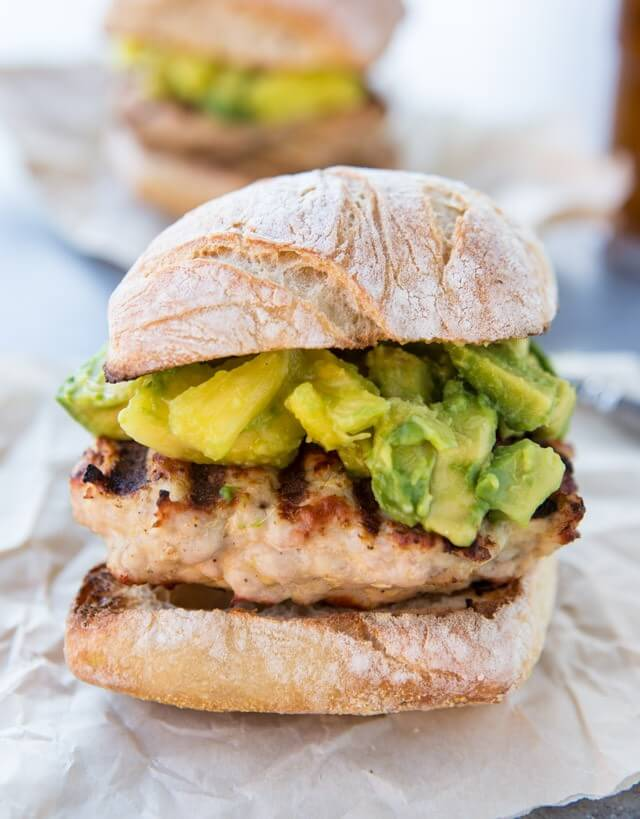 Grilled-Turkey-Burger-with-Avocado-Pineapple-Ginger-Salsa-2-640x819