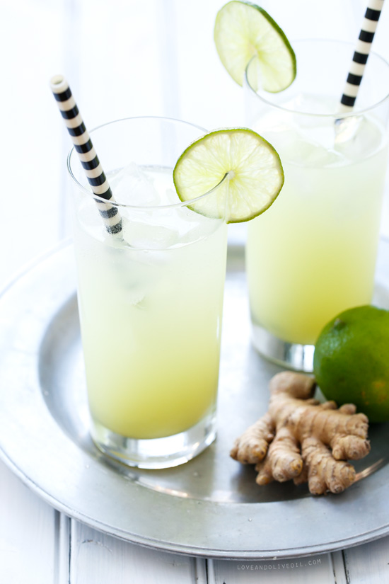 Fresh Ginger-Lime Tonic